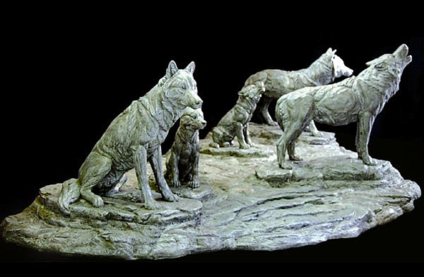 Wolf Pack Sculpture