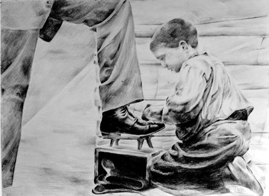 Child Drawing Child Labor Graphite Drawing