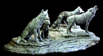 Wold Pack Wildlife Sculpture